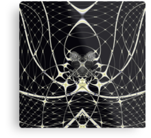 Golden Spiderweb Metal Print