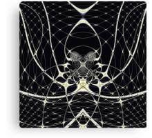 Golden Spiderweb Canvas Print