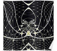 Golden Spiderweb Poster