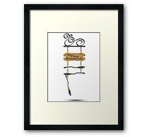 The Three Broomsticks (Bigger) Framed Print