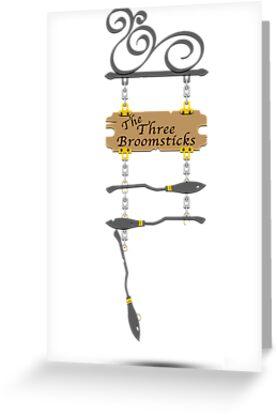 The Three Broomsticks (Bigger) by thegadzooks