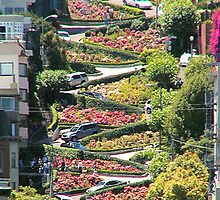 Lombard Street in San Francisco by Sarah Slapper