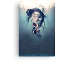 Spirited away Haku and Chihuro Canvas Print