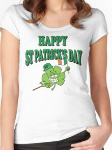 Happy Saint Patrick's Day Women's Fitted Scoop T-Shirt