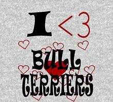 I <3 Bull Terriers Unisex T-Shirt