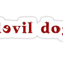 Devil Dog - Red Sticker