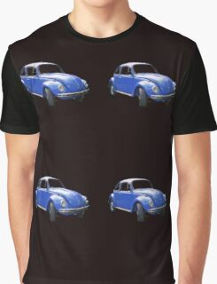 The Bigger Blue Beetle Bug Graphic T-Shirt