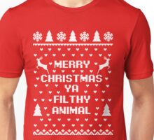 Merry Christmas Filthy Animal, Home Alone, Christmas Shirt Unisex T-Shirt