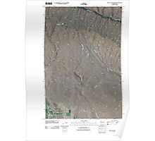 USGS Topo Map Washington State WA The Cottonwoods 20110404 TM Poster