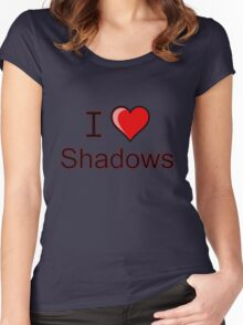 i love shadows heart  Women's Fitted Scoop T-Shirt