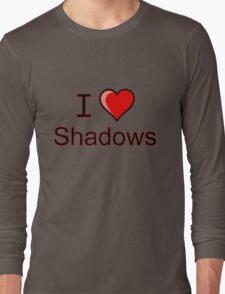 i love shadows heart  Long Sleeve T-Shirt