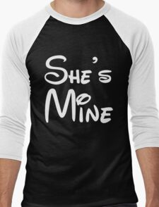 She's Mine Men's Baseball ¾ T-Shirt