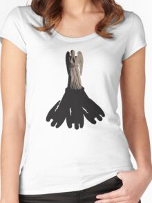weeping angel meets vashta nerada Women's Fitted Scoop T-Shirt
