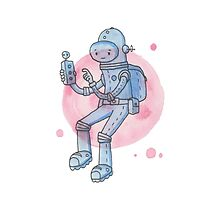 Blue Space Man by Onno Knuvers