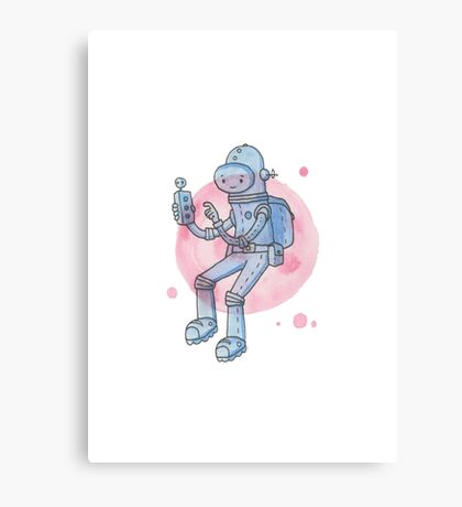 Blue Space Man Canvas Print