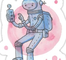 Blue Space Man Sticker