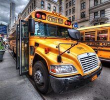 NYC School Bus by Yhun Suarez