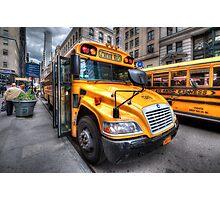 NYC School Bus Photographic Print