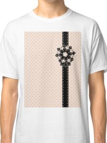 Polka Dots and Flowers Classic T-Shirt