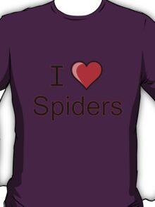 i love spiders heart T-Shirt