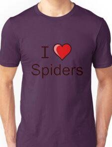 i love spiders heart Unisex T-Shirt