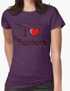 i love spiders heart Womens Fitted T-Shirt