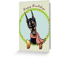 Doberman Pinscher Happy Howlidays Greeting Card