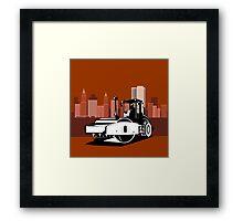 Road Roller Retro Framed Print