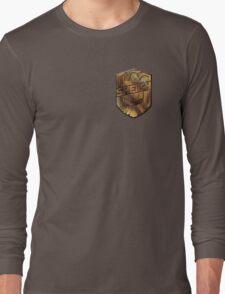 Custom Dredd Badge Shirt - Pocket - (Sheikh)  Long Sleeve T-Shirt