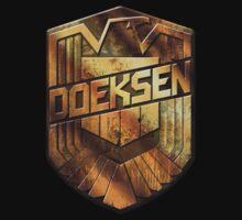 Custom Dredd Badge Shirt - (Doeksen)  by CallsignShirts