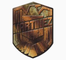 Custom Dredd Badge Shirt - Pocket - (Martinez)  Kids Clothes