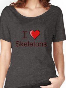 I love Halloween skeletons  Women's Relaxed Fit T-Shirt