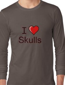 I love Halloween Skulls  Long Sleeve T-Shirt