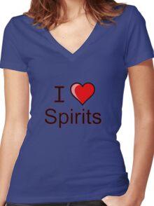 I love spirits Halloween  Women's Fitted V-Neck T-Shirt