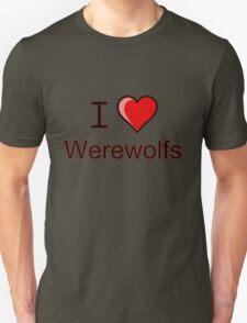 I love Halloween werewolves   Unisex T-Shirt