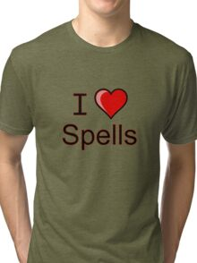 I love Halloween spells  Tri-blend T-Shirt