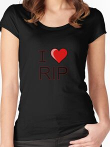 I love Halloween Rest in peace RIP  Women's Fitted Scoop T-Shirt