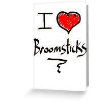 I love Halloween Broomsticks  Witches  Greeting Card