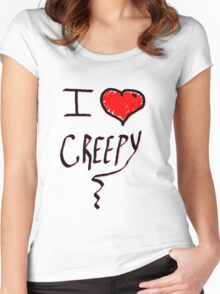 I love Halloween Creepy  Women's Fitted Scoop T-Shirt