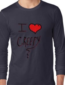 I love Halloween Creepy  Long Sleeve T-Shirt