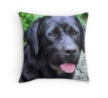 Black Lab - Rizzo Throw Pillow