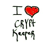 Crypt keeper I love Halloween  Photographic Print
