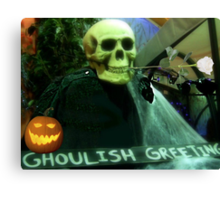 Ghoulish Greetings Canvas Print