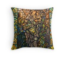 Madonna of the Flowers. Throw Pillow