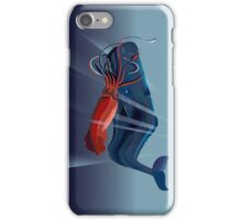 Giant Squid and Sperm Whale iPhone Case/Skin