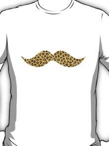 Mustache - Leopard Print T-Shirt