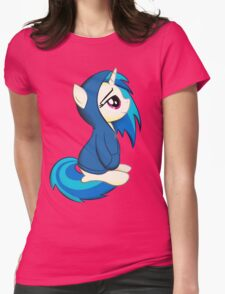 Vinyl Scratch - Lost in Thought Womens Fitted T-Shirt