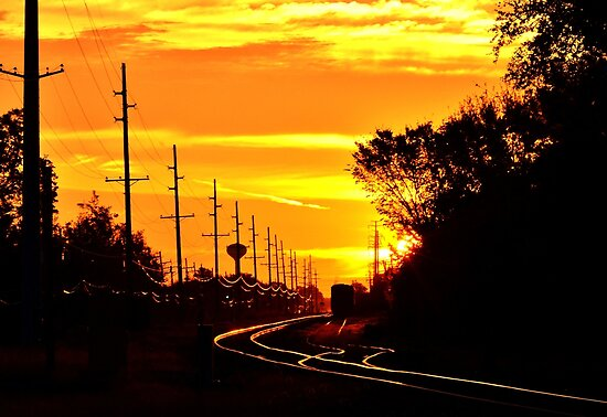 Railroad Sunrise by jasmith162