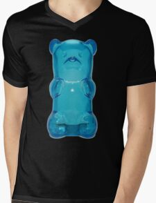 Blue gummy bear Mens V-Neck T-Shirt