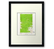 USGS Topo Map Washington State WA Loup Loup 242079 1956 62500 Framed Print